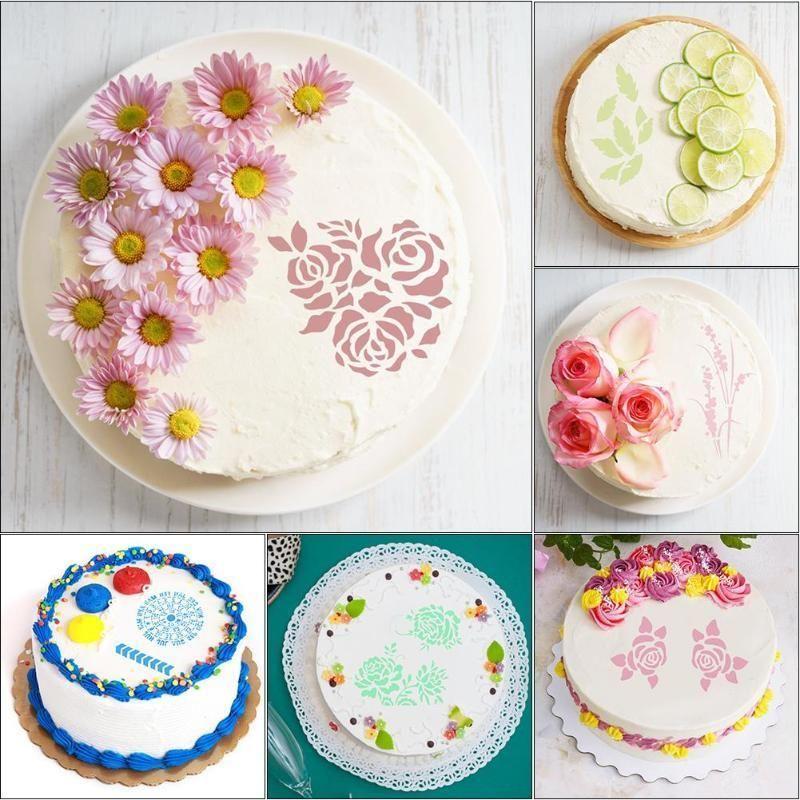 Stupendous 2020 Plastic Cake Stencils Flower Spray Stencils Birthday Cake Funny Birthday Cards Online Inifodamsfinfo