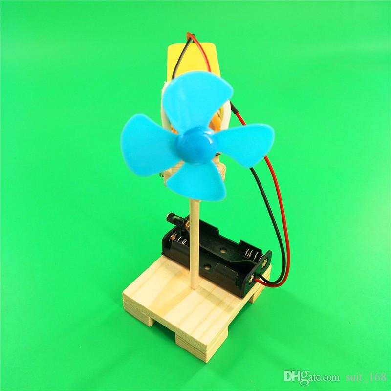 Самодельный трясущийся головной вентилятор Вентилятор diy small-scale of small invention детский научный эксперимент ручная сборка модели