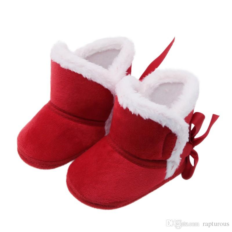 New Baby Ankle Snow Boots Infant Crochet Knit Fleece Baby Shoes For Boys Girls