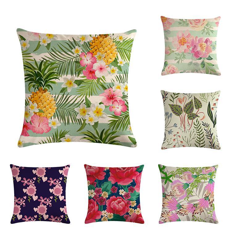 Цветочный узор наволочкой, декоративная наволочка, накидка на диван, наволочка 45 * 45см, предметы интерьера