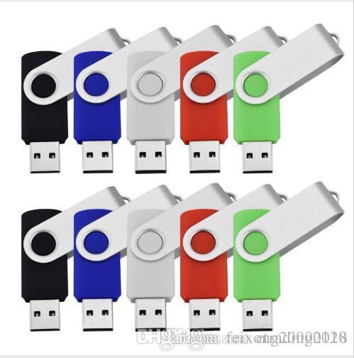 أزياء بالجملة 10PCS 8GB USB فلاش حملة دوار Pendrives الإبهام USB 2.0 ذاكرة العصي صحيح لتخزين الكمبيوتر المحمول متعدد الألوان