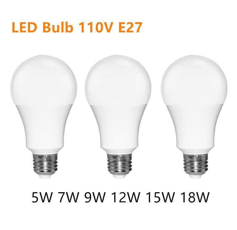 LED Bulb E27 SMD2835 5W 7W 9W 12W 15W 18W Bombillas Lamp cfl Ampoule 110V Spotlight Light Lampada Diode Home Decor Energy Saving