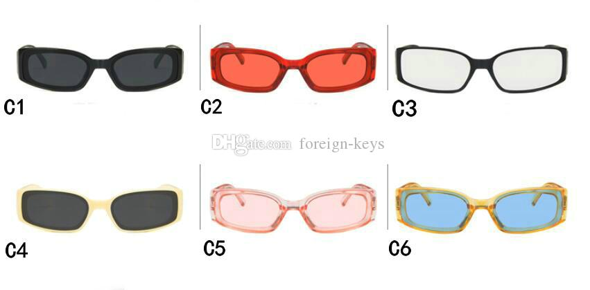 2019 neue europäische und amerikanische Mode-Sonnenbrille Retro-Quadrat-Rahmen breitbeiniger Hip-Hop-Mode-Sonnenbrille Freies Verschiffen 10pcs / lot. Gnvak
