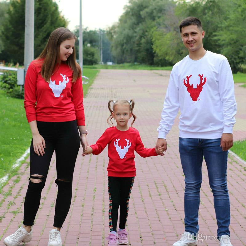 Family Matching Clothes Mother Daughter Father Baby Clothes Family Clothing Cotton shirts