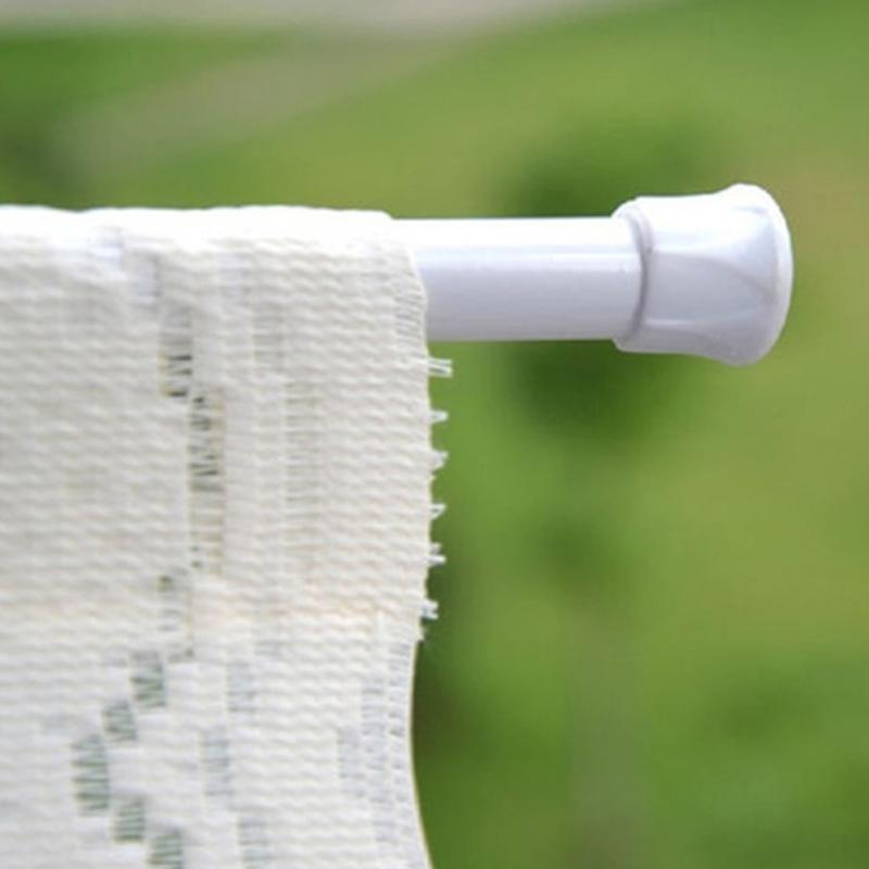 Verstellbare Badezimmer Duschvorhang Rods Voile Ausziehbare Tension Teleskopstange Rod Aufhänger Frühling Anderes Bad Toilette Zubehör Loaded