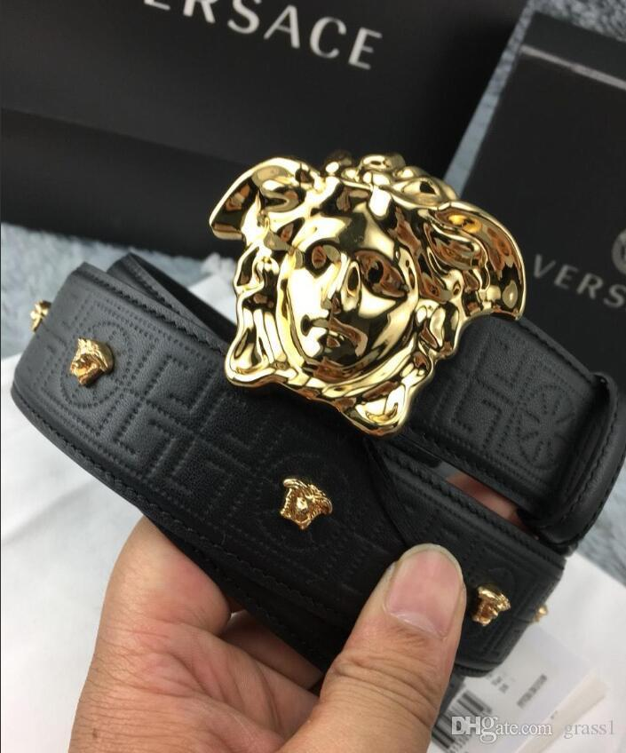 Cintos de negócios Mensa Marca Mens Belt Womens Marca Moda Suave Cintos Buckle Largura 4,0 centímetros 5 opções de cores de alta qualidade