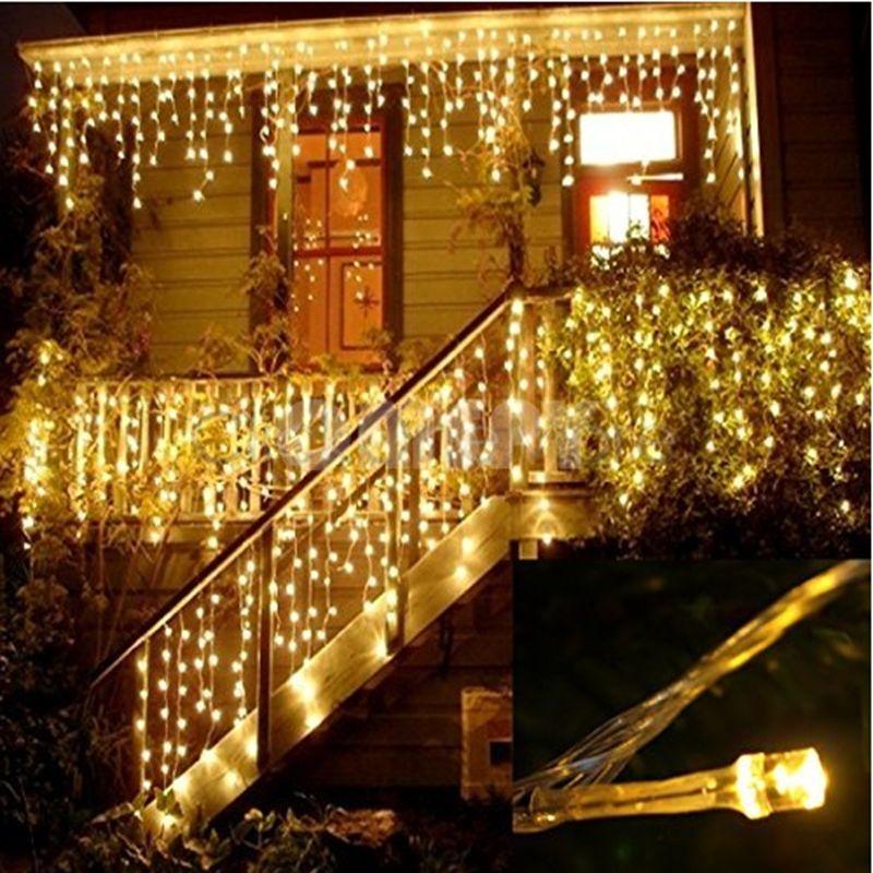 Noel Işıklar Dış Dekorasyon 5m DROOP 0.4-0.6m Led Perde Icicle Işıklar Bahçe Noel Partisi Dekoratif Işıklar