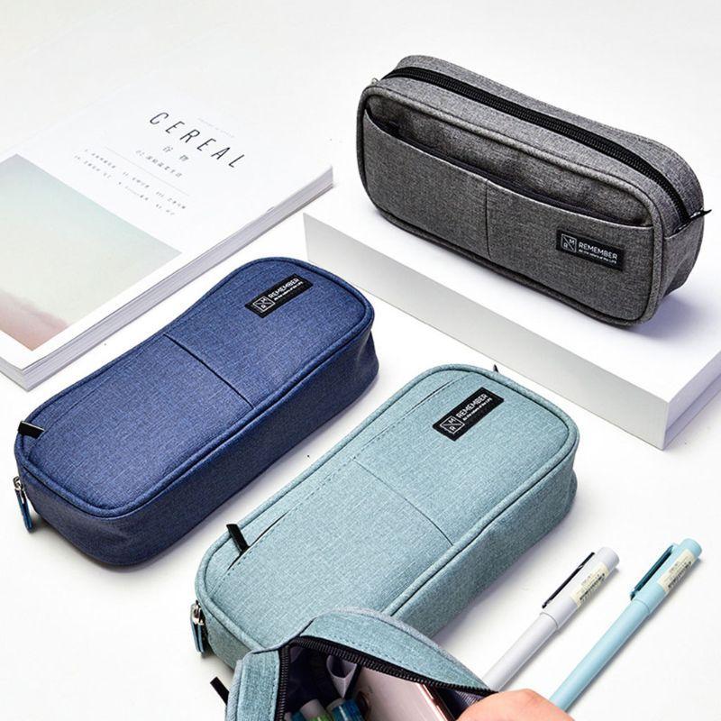 Caso Lápis Multifuncional Saco Grande Capacidade Pen Stationery escova cosmética Bolsas