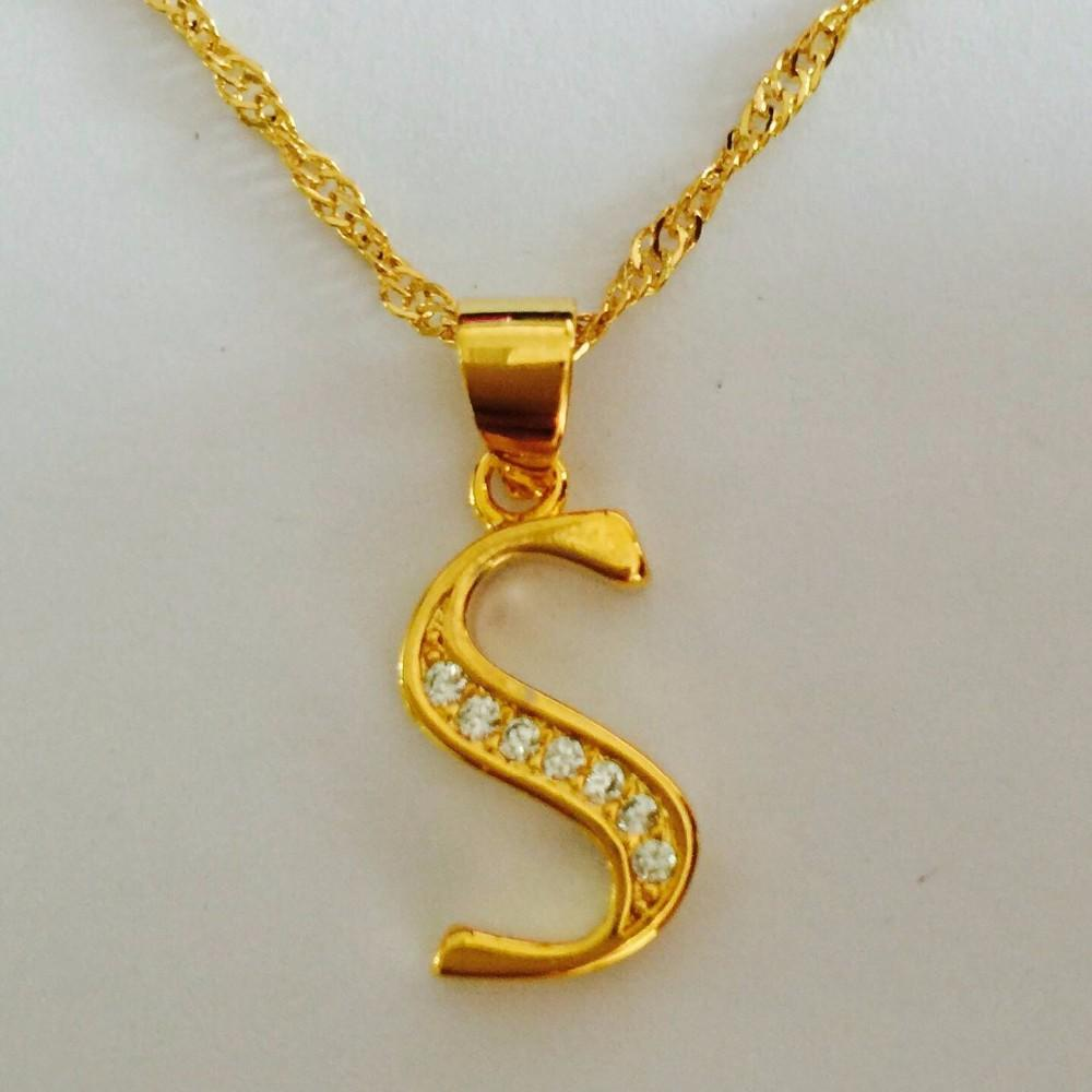 UHotstore Hot fashion 26 letter charm pendant necklace women simple S necklace,lovers gift gold plated silver initial choker
