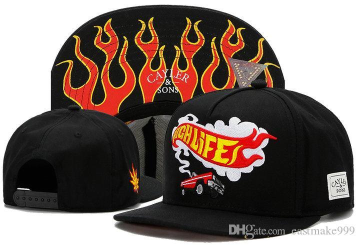 Swag Cayler Sons Snapback Caps Düz Kalça Erkekler Snapbacks Casquette Kemik Aba Reta Kemikler Gorras Planas için Hop Cap Beyzbol Şapka Şapka