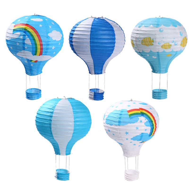 Ballon à air chaud Lampion Lanterne Lampe Chambre Fun Décor plafond abat-jour Lumière Décoration pour Holiday Party