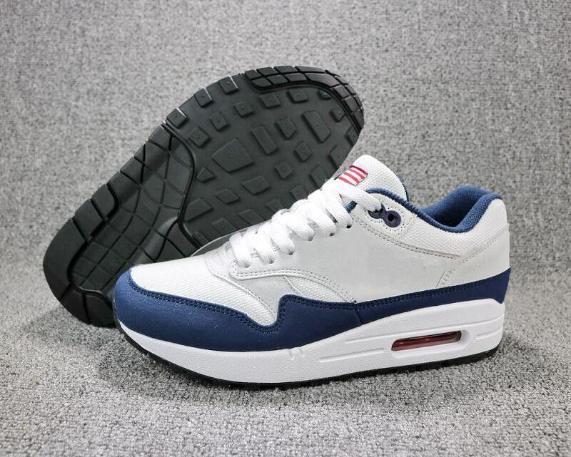 Новая мода 1 сетка оригинальный США пользовательские кроссовки дышащий 87s Белый Varsity Красный полночь темно-синий свет Дзен серый дизайнер тренеры с коробкой