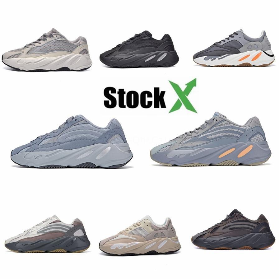 With Box New 700 Wave Runner Mauve Inertia Mens Shoes Kanye West Designer Shoes Men Women 700 V2 Static Sports Seankers Size 36-45B930#DSK708