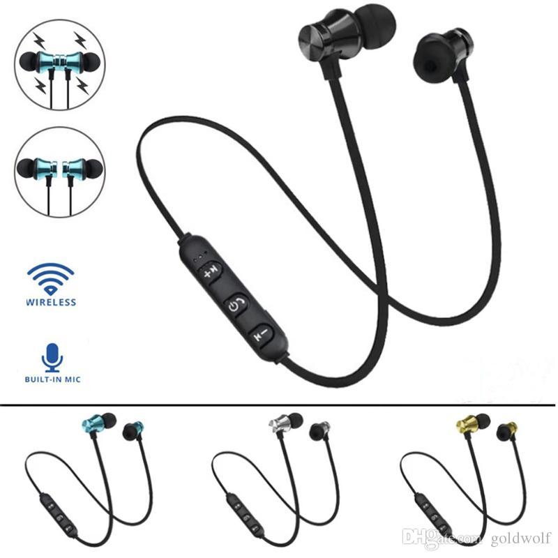 Дешевые XT11 Magnetic Bluetooth 4.2 Беспроводная гарнитура In-Ear наушники наушники для iphone XS Max 8 Plus Samsung S10 + Huawei P30