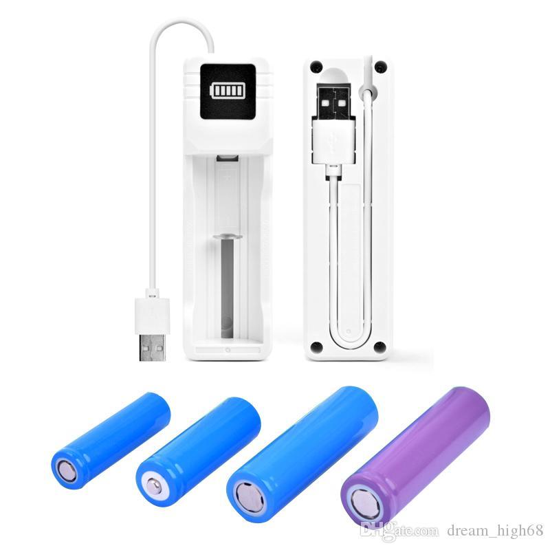 USB Универсальное зарядное устройство литий-ионная аккумуляторная батарея питания 18650 10440 26650 16340 14500 литий аккумуляторная батарея для электронных сигарет Kit