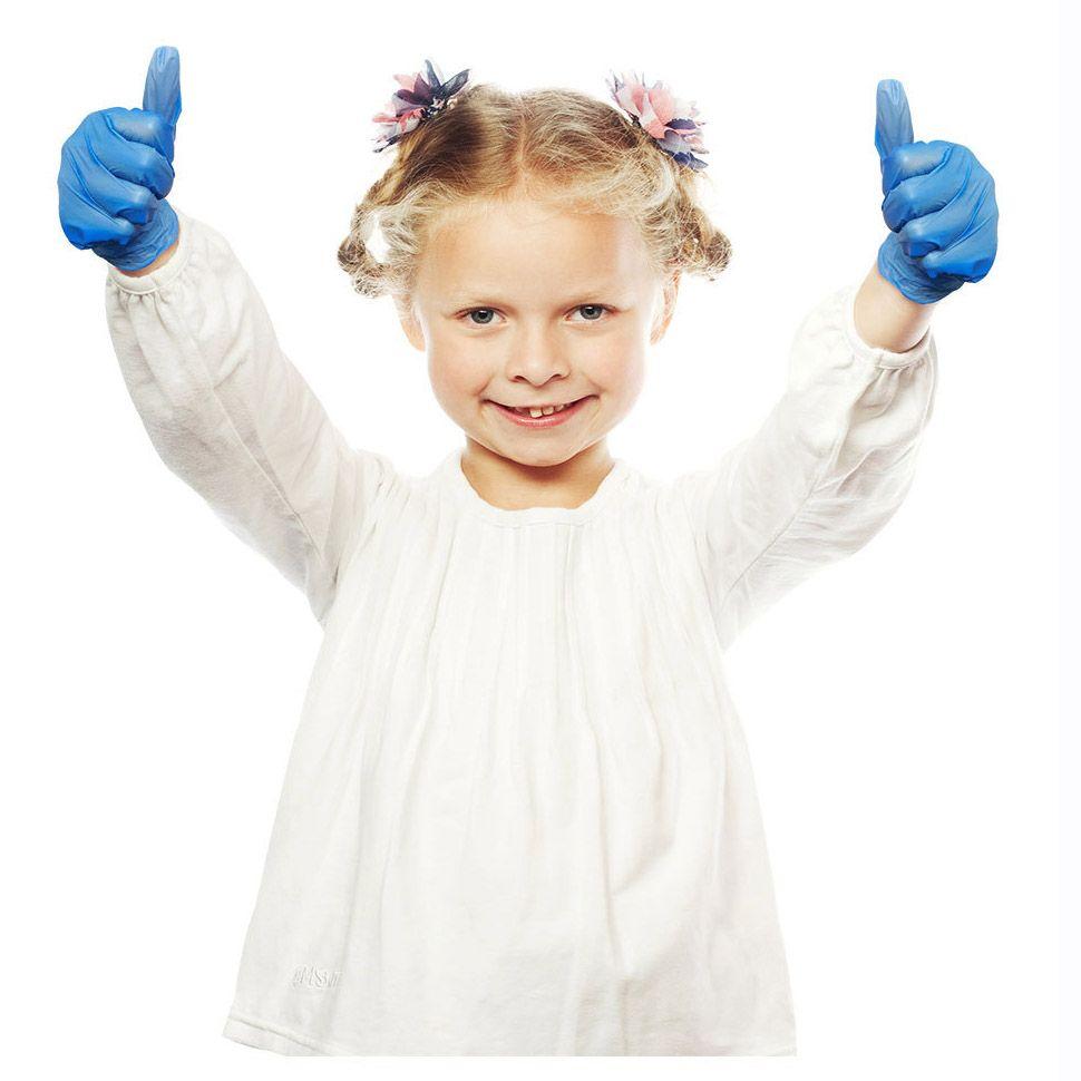 20pcs / pacchetto monouso Guanti in nitrile per i bambini Bambini multiuso lavoro Guanto antiscivolo Pittura pulizia FY4033