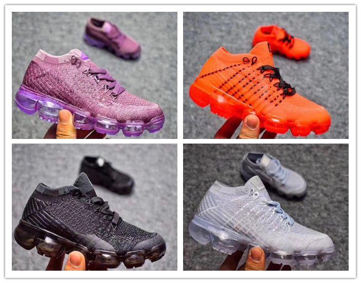 2018 bebé niño Air Knitting Portable Kids Running Shoes Niños 2018 cojín estilo Zapatillas deportivas Niños Niñas Zapatillas de entrenamiento
