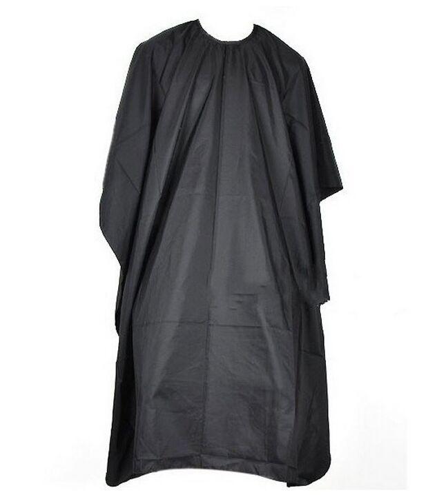 Cuisson Coup de coiffure Tissu Tissu Barbiers Coiffure Grand Salon Adulte Étanche Robe Cape Robe de Cape Noir Coiffeur Cape Robe Wrap