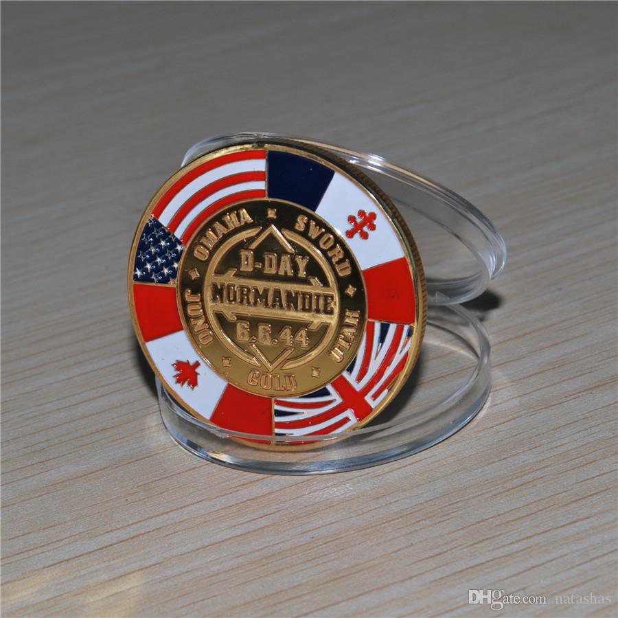 D-DAY NORMANDY VICTORY 1944 CHALLENGE COIN