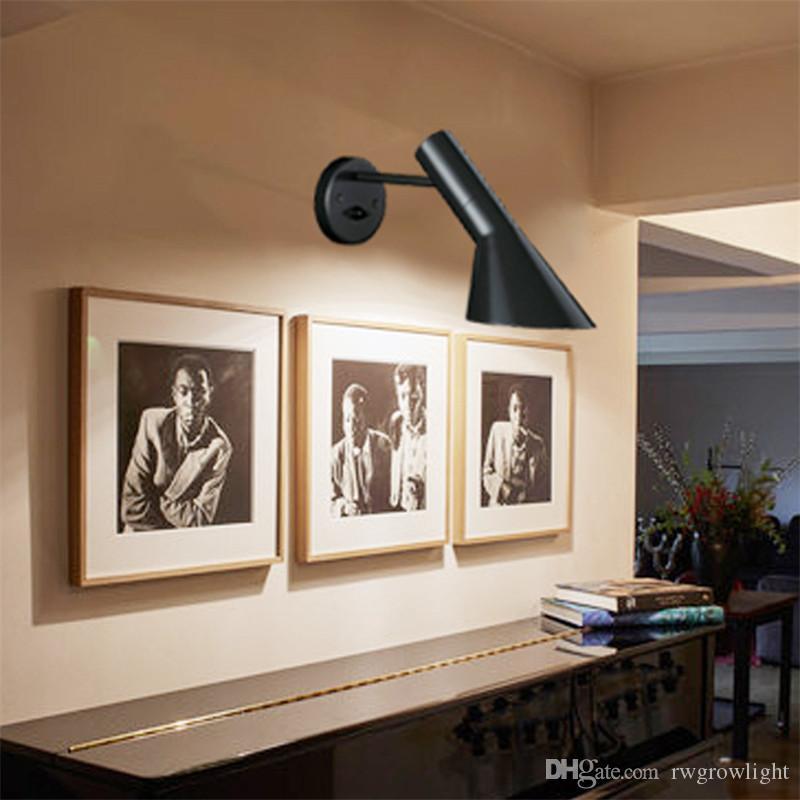 Nordic LOFT viento industrial AJ aplique de pared personalidad americana LED dormitorio cama moderna creativa lámpara de pared giratoria