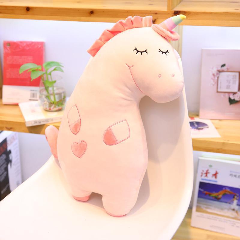 Hot 55cm Cute Plush Toys For Children Pillow Unicorn Dolls Beast Pony Couple Birthday Gift Christmas Stuffed Animals One Piece
