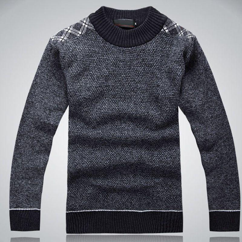 Pullover maglione lavorato a maglia uomo KUCUN