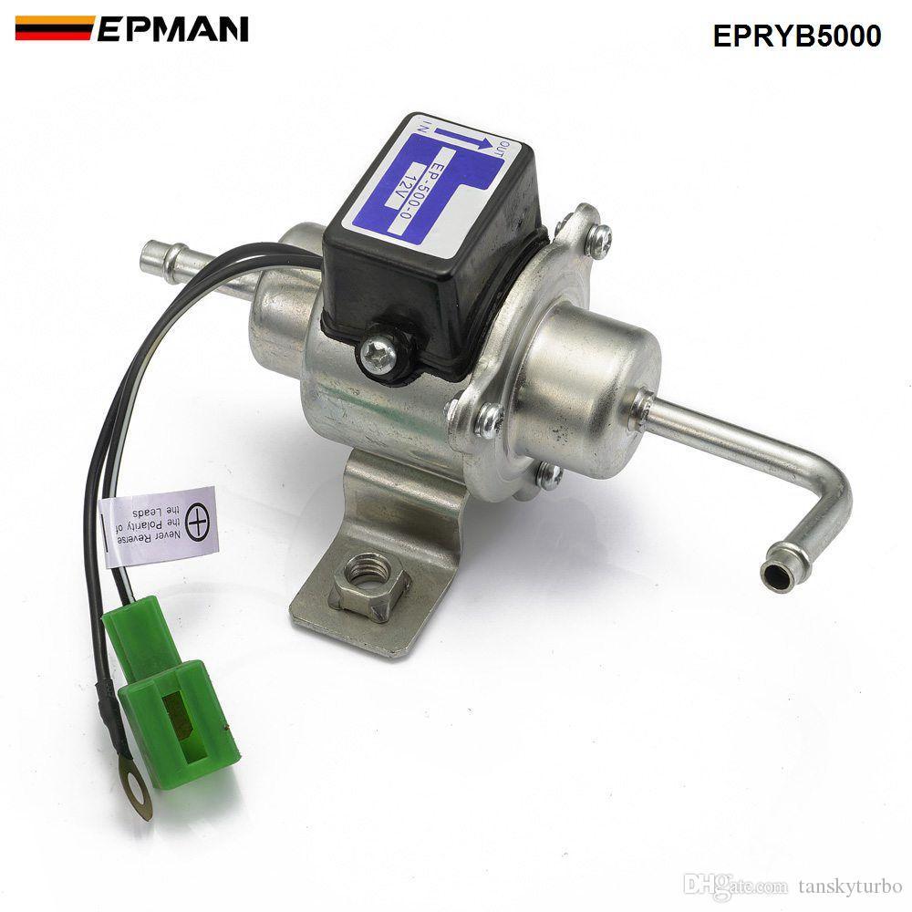 EPMAN 12V Электрический топливный насос EP-500-0 035000-0460 12585-52030 Дизель Бензин Pertrol чехол для Kubota Yanmar Cub Cadet двигателя EPRYB5000