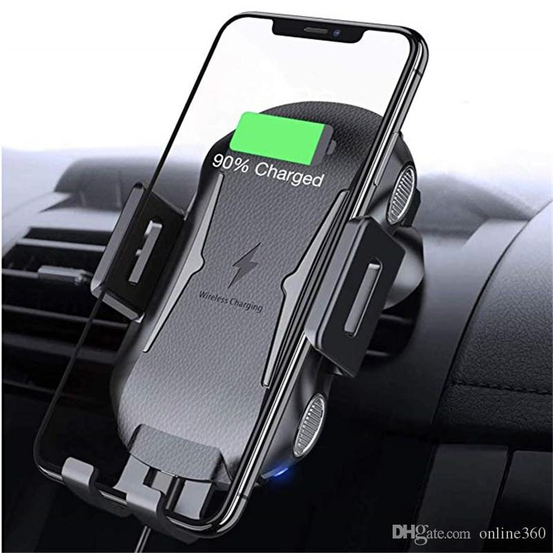 Qi Wireless Car Charger Magnetic Air Vent Mount Holder For Iphone XS Max Samsung