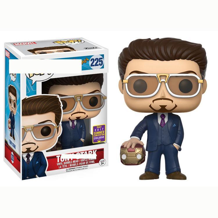 2019-2020 Nuova FUNKO POP Spider-Man eroe Return Home Office la decorazione di modello Tony Stark Iron Man # 225 PVC Girl bambole Regali giocattoli