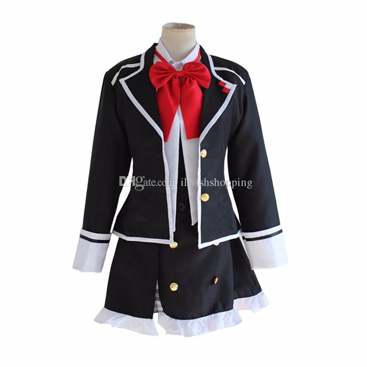 DIABOLIK LOVERS Komori Yui cosplay costume coat shirt skirt full set school uniform dress Carnival Anime ( Jacket + Vest + Skirt + Bow tie )