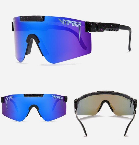 Óculos de sol Pit Viper grande frame de equitação óculos de sol coloridos banhado completa real Film óculos polarizados encaixotado