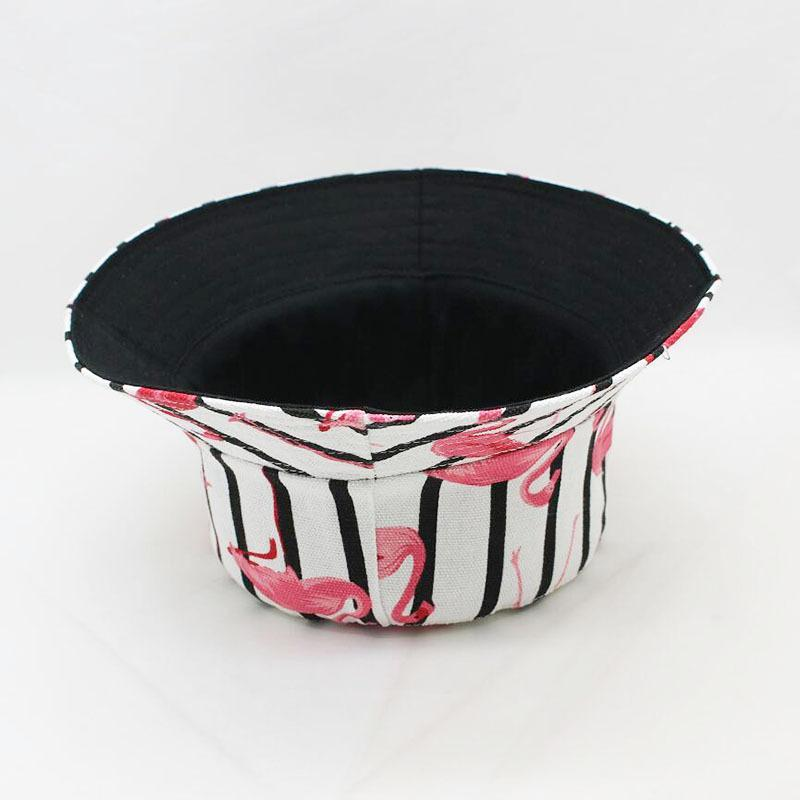 Мода-2018 Женщины Flamingo Bucket Hat Summer Printed Боб Cap Hip Hop Gorras Ladies Открытый Панама Рыбалка ВС Пляж Плоский Hat ковша