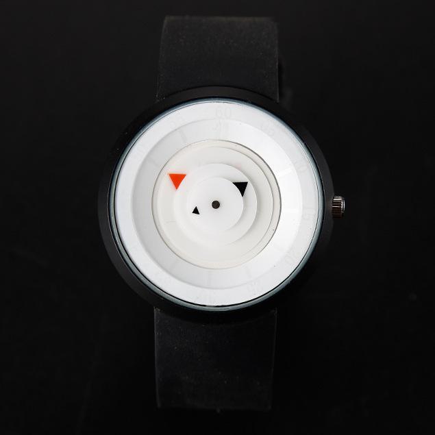 Yaratıcı konsept kişilik moda trendi spor öğrenci izle su geçirmez silikon Womens kuvars saatler doğum günü hediyesi saatler