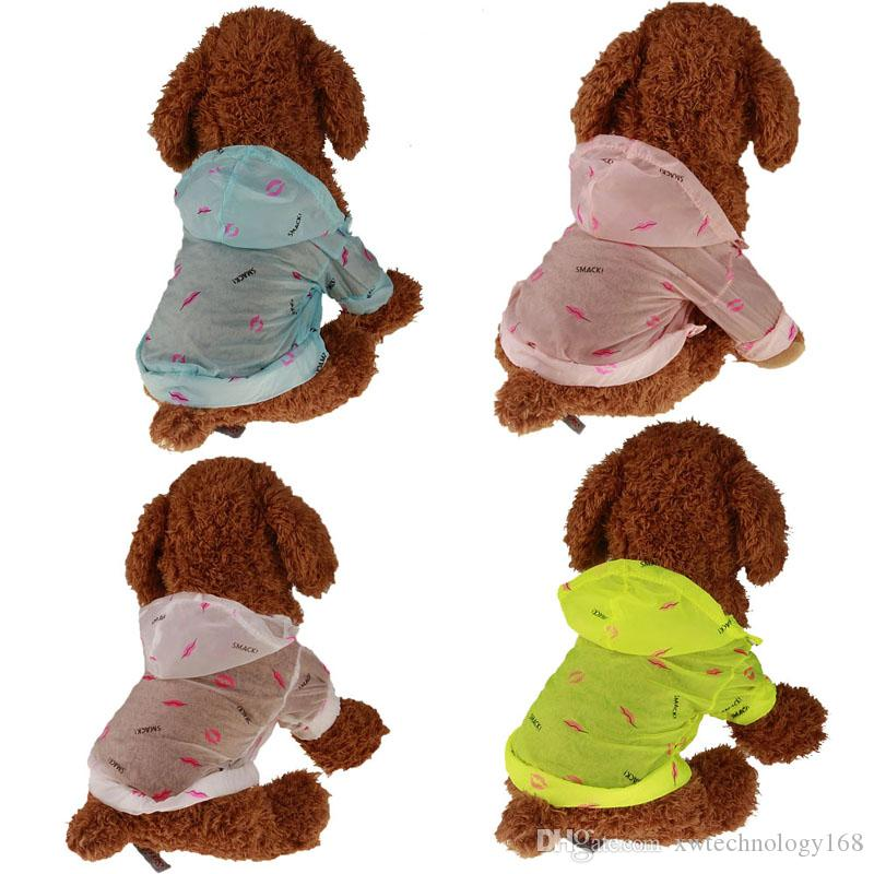 1PCS Pet Sun UV Protection Clothing Dog Shirts Summer Sun Protection Jacket Lightweight Pet Air Conditioning Clothes 5 Sizes 4 Colors