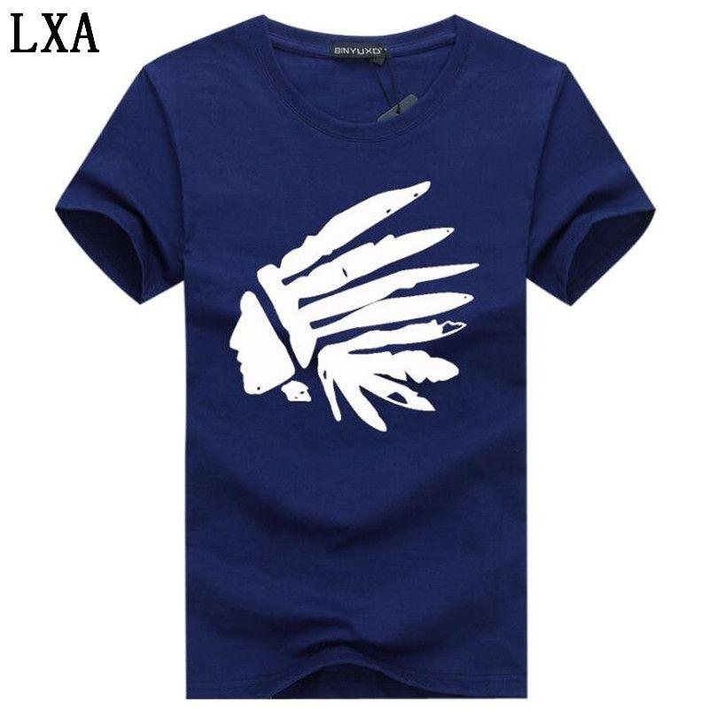 T-shirt manica corta estate fumetto stampato maglietta degli uomini Tee shirts casual di marca maglietta del cotone 5XL HC-3