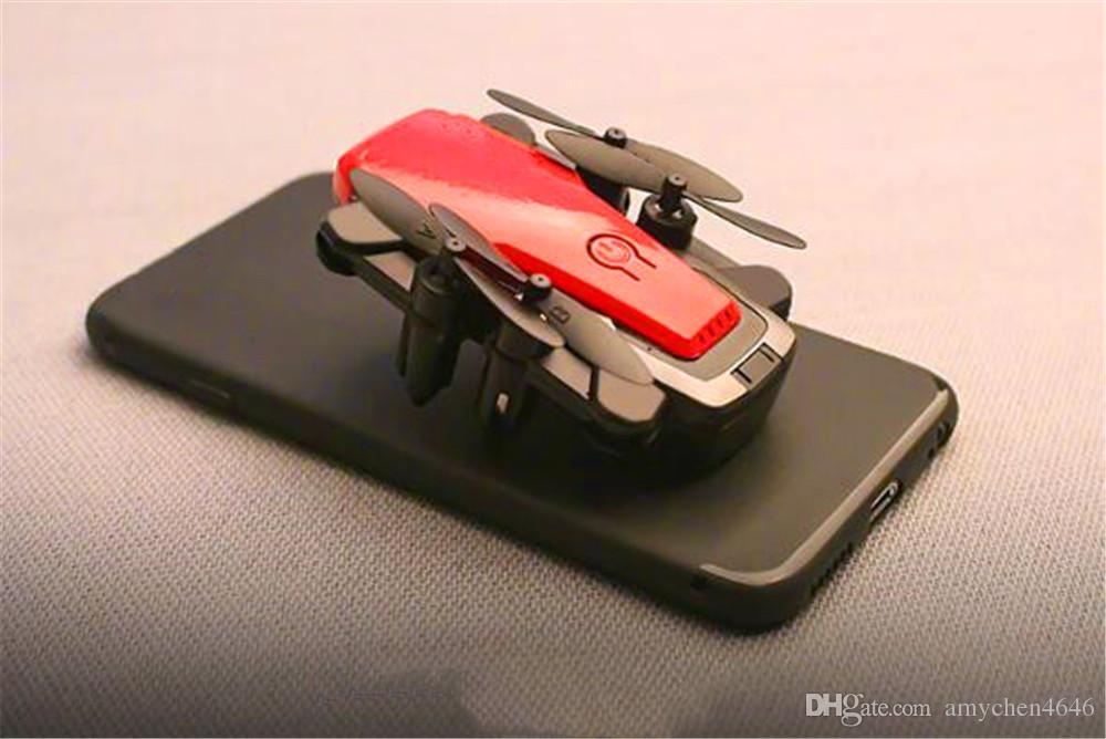 Dobrável Mini Drone com / sem HD Camera alta Reter Modo RC Quadrotor RTF WiFi FPV dobrável RC Drone E61Free Entrega
