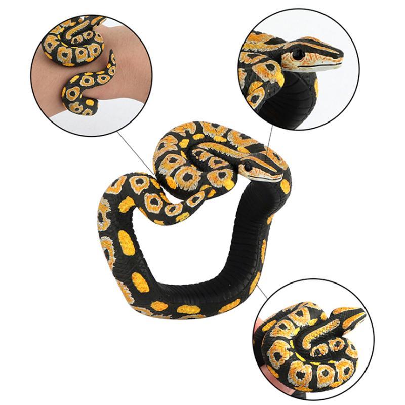 Yılan Python Bilezik Simülasyon hayvan modeli figür plastik Fun Prank Hediye İçin Çocuk eğitici çocuk erkek kız Sıcak oyuncaklar