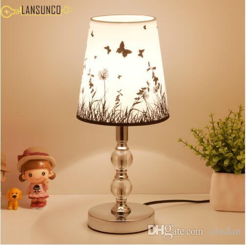 북유럽 크리스탈 테이블 램프 PVC 데스크 램프 스테인레스 스틸 Tafellamp 침대 옆 호텔 장식 침실 램프 Lampara 드 메사