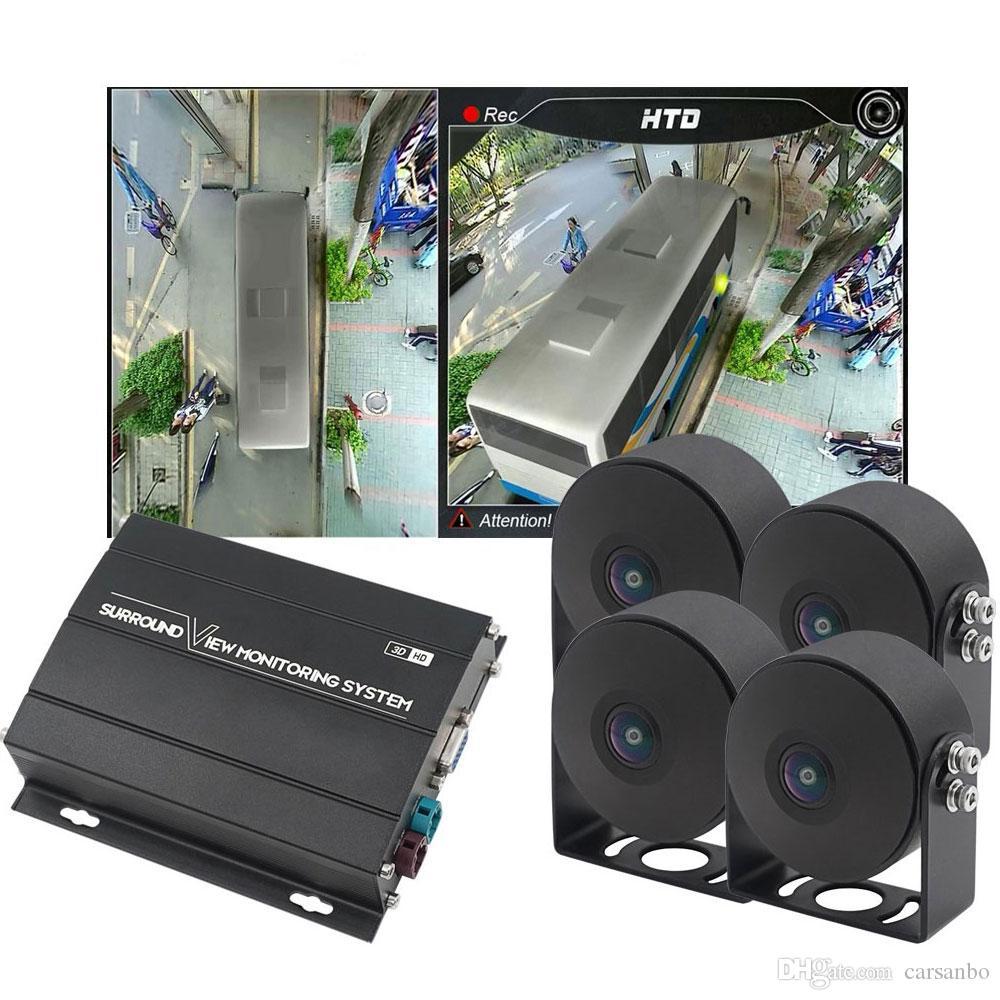 HD 1080P 360 degrés Surround View système de caméra pour Bus, Camion, enregistrement 3D 360 degrés DVR oiseaux Vue dvr voiture système Panorama
