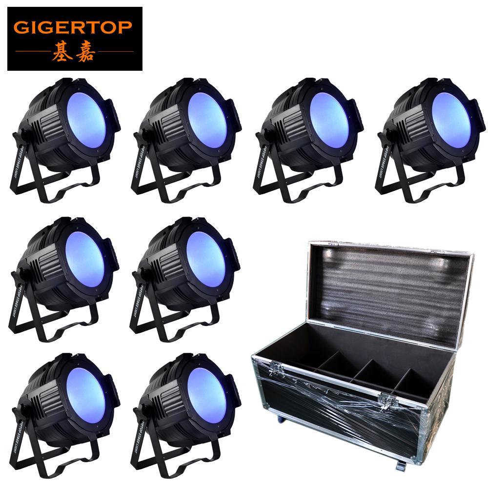 8IN1 Flightcase Paquet 200W RGBW de scène Profession DMX512 Effet d'éclairage électrique pour le Nouvel An Clubs Home Entertainment Dj Disco