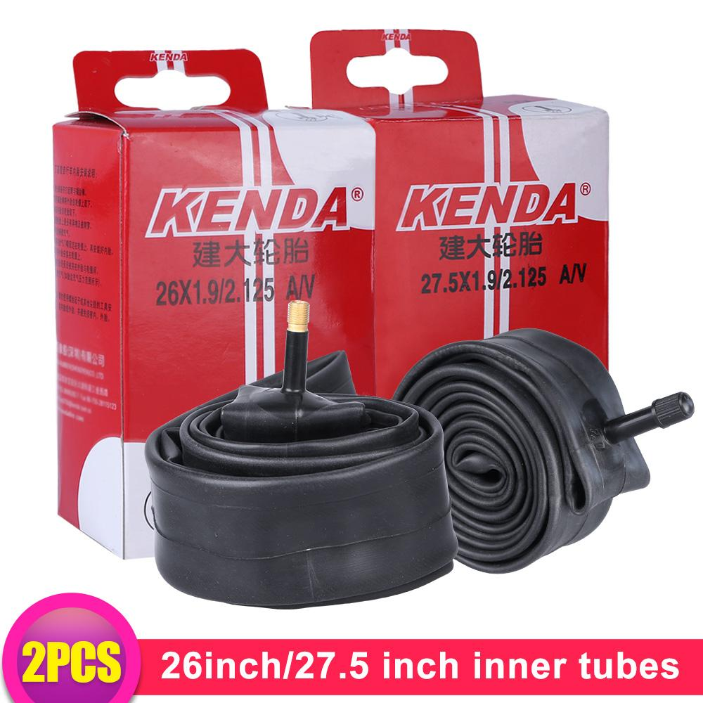 2pcs Bicycle Inner Tube Tires MTB Bike AV Schrader Valve Butyl Rubber Tyres