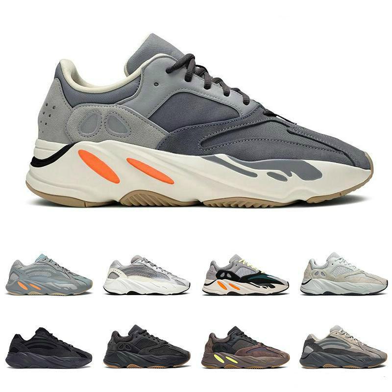 2020 Kanye West Statik Sneakers 700 Atalet Analog Mıknatıs Erkekler Kadın Ayakkabı Yansıtıcı Tephra Tuz Geode Utility Siyah Vanta Koşu Ayakkabı