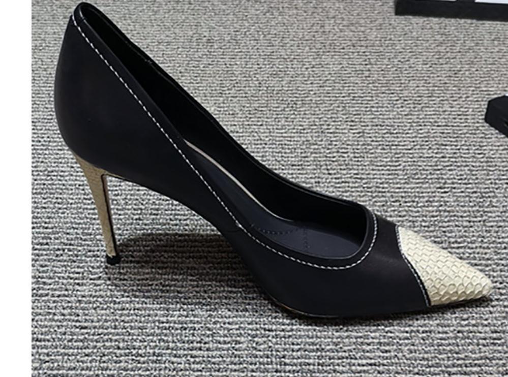 2020 весна и осень с новым стилем мода высокий каблук тонкий каблук заостренный конец Женская обувь @MQWBH770