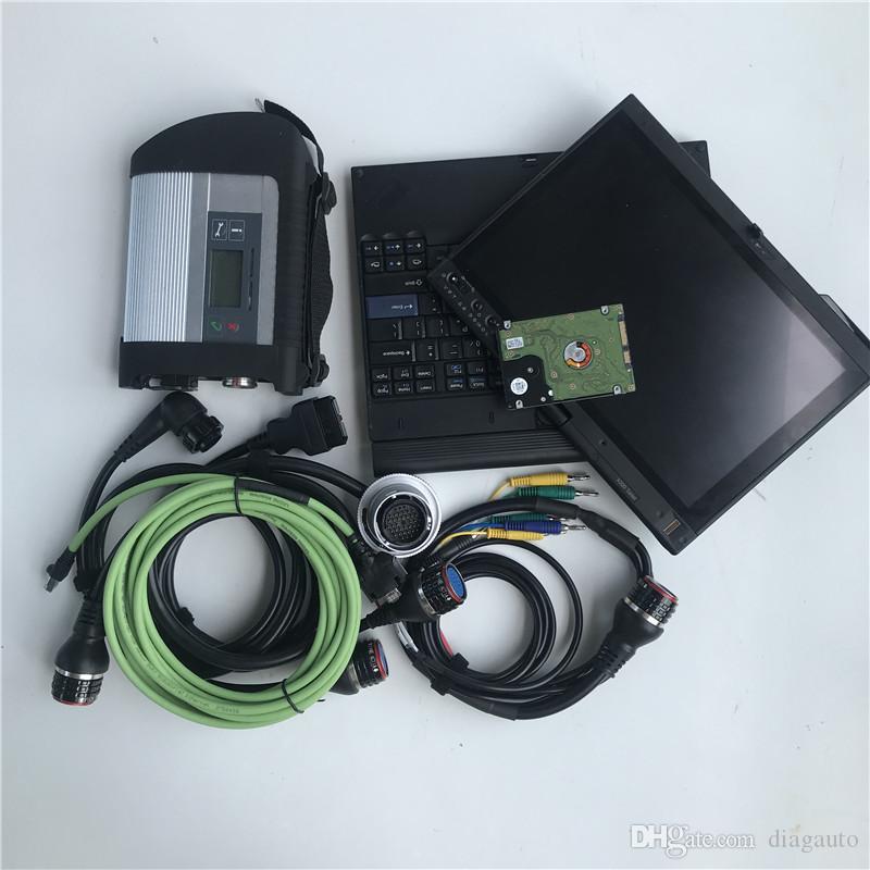 MB Star C4 SD Connect C4 kit de réparation + nouveau-soft ware 2019,12 outil de diagnostic mb étoile c4 vediamo / X / DSA / DTS avec X200T ordinateur portable 4G