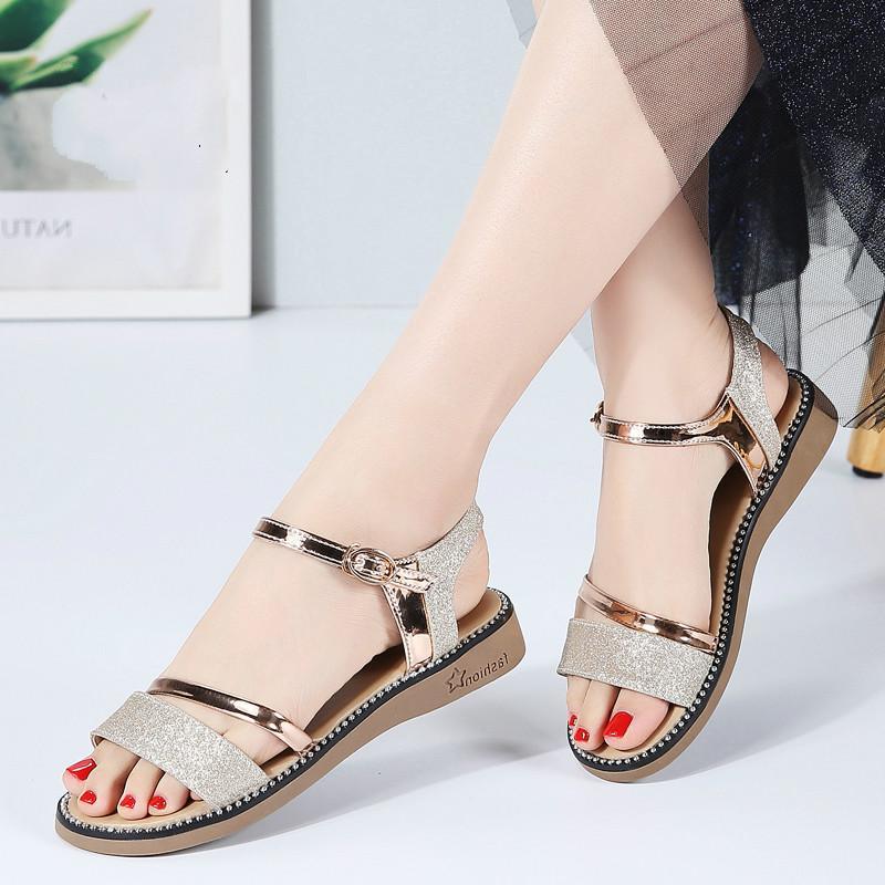 2020 Summer Women Sandals Black Gold