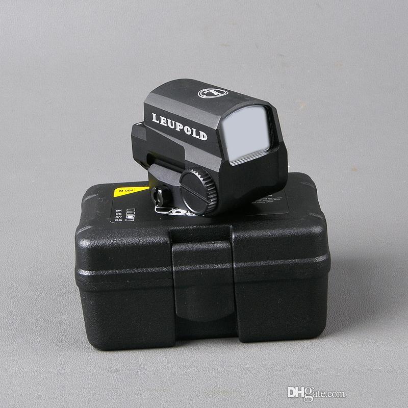 Новый Leupold LCO Улучшенная красная точечная зрение Охота на охватываний Hologrogrography Tactical Riflescope подходит для любых 20 мм железнодорожного монтажа Airsoft Gun