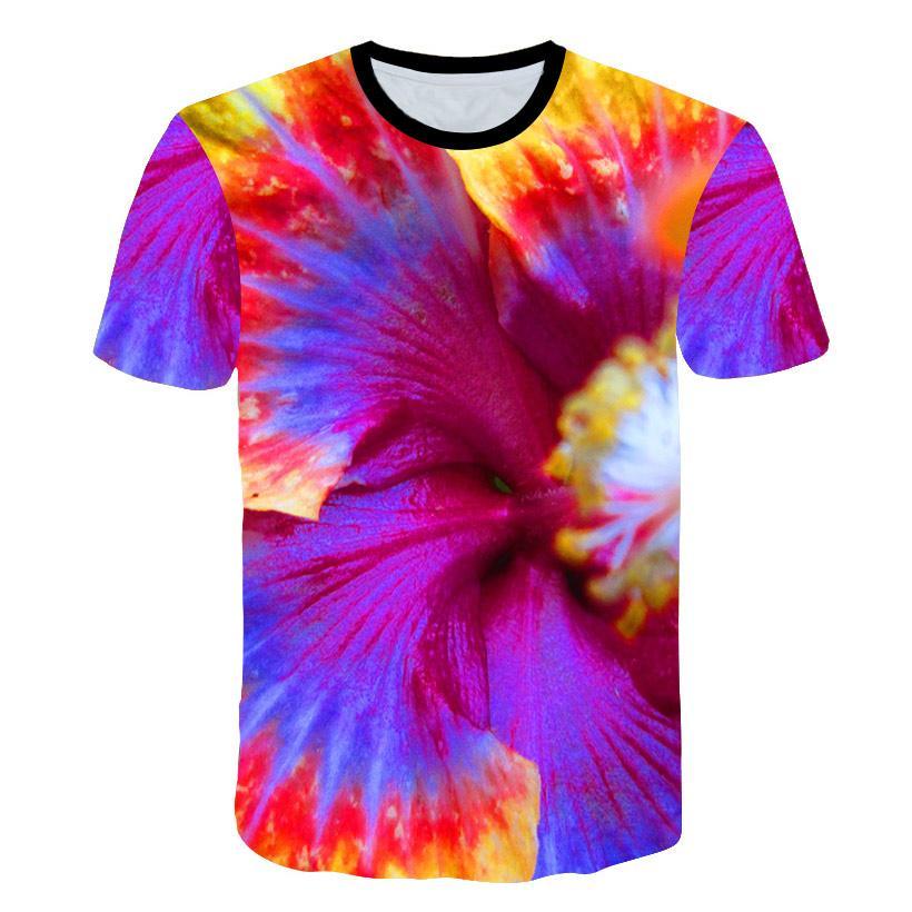 New 3D Printing Painting T-shirt Man Round Collar Short Sleeve T-shirt Summer Fallow Men Woman Fashion T shirt Short