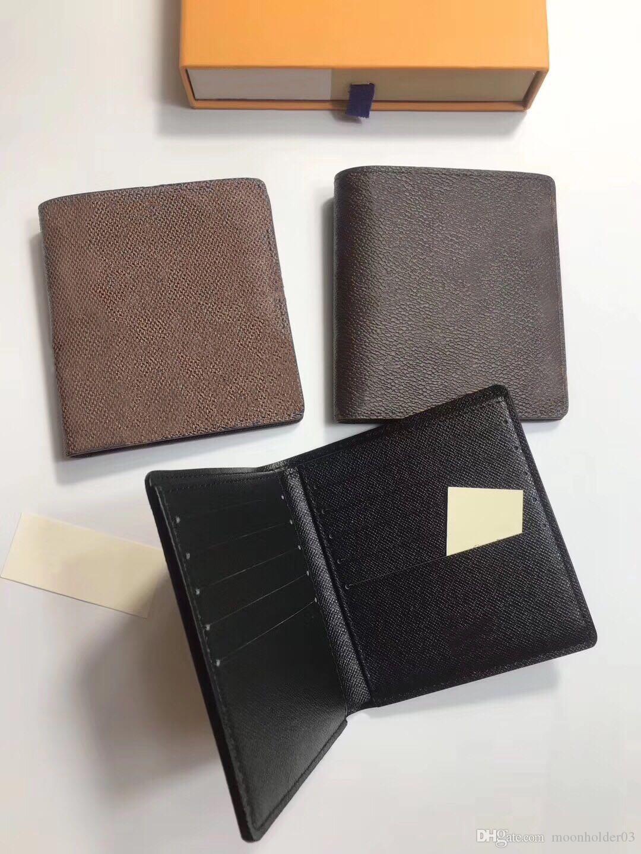 Vente en gros cuir Multicolor monnaie Porte-monnaie pliant court Porte-monnaie Mini classique carte pois hommes cas Zipper poche de rangement