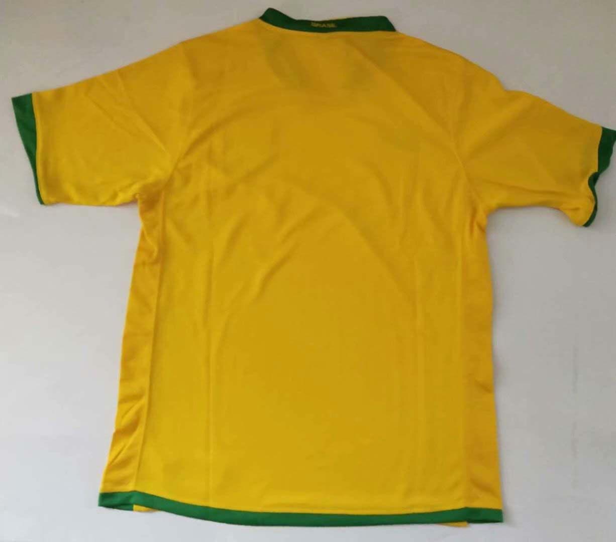 brasil 04 06 Retro soccer jersey Brazil 2006 1957 KAKA Carlos Adriano Jersey shirt short sleeve