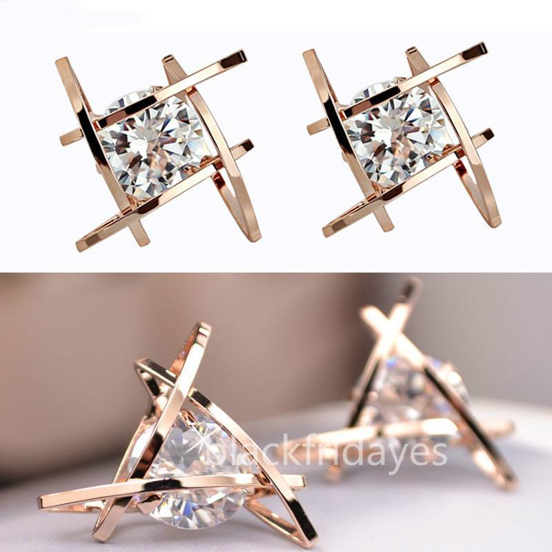 2019 vendendo brincos de alta qualidade de jóias de casamento Brincos de cristal cheia rodada de moda para mulheres meninas
